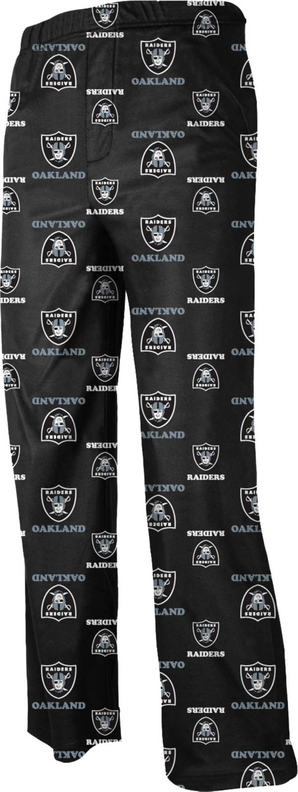 NFL Team Apparel Youth Oakland Raiders Dorm Black Pants product image