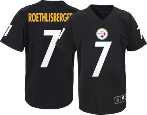 0a3d3fda9 NFL Team Apparel Youth Pittsburgh Steelers Ben Roethlisberger  7 Black  T-Shirt. noImageFound. Previous