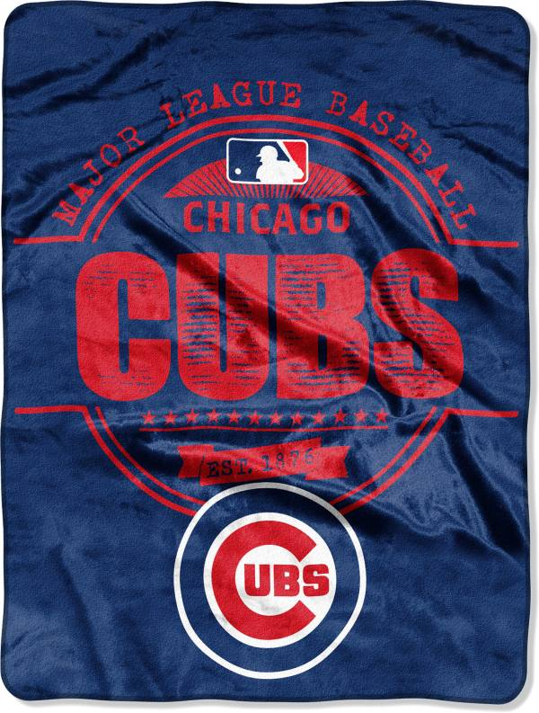 Northwest Chicago Cubs Structure Micro Raschel Throw Blanket product image