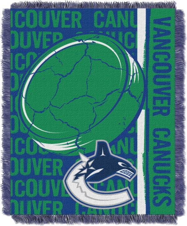 Northwest Vancouver Canucks Double Play 48 in x 60 in Jacquard Woven Throw Blanket product image