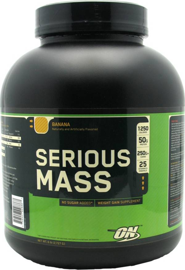 Optimum Nutrition Serious Mass Protein Powder Banana 6 lbs product image