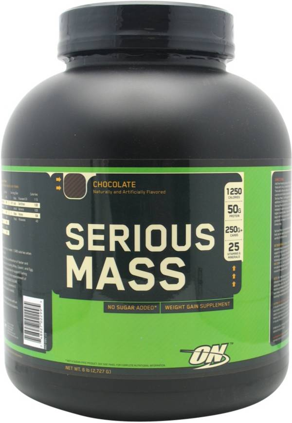 Optimum Nutrition Serious Mass Protein Powder Chocolate 6 lbs product image