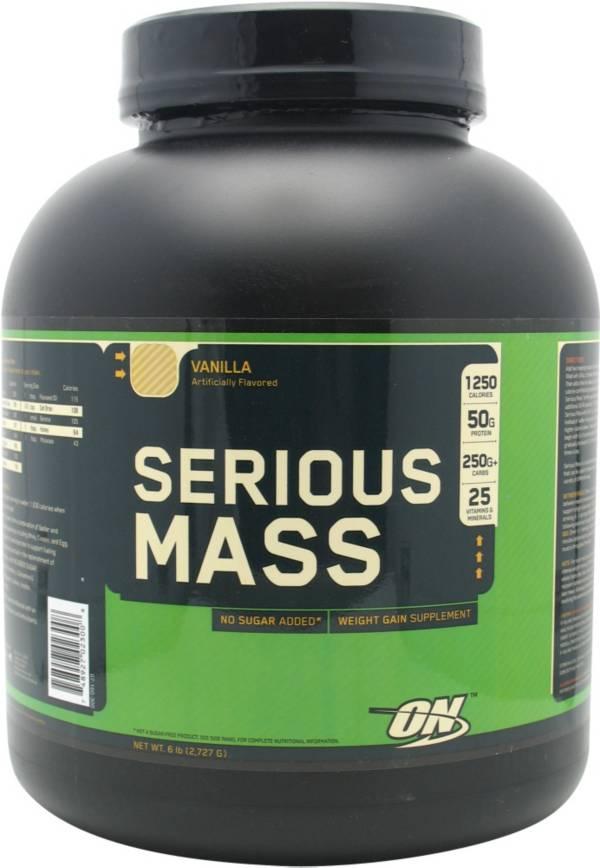 Optimum Nutrition Serious Mass Protein Powder Vanilla 6 lbs product image