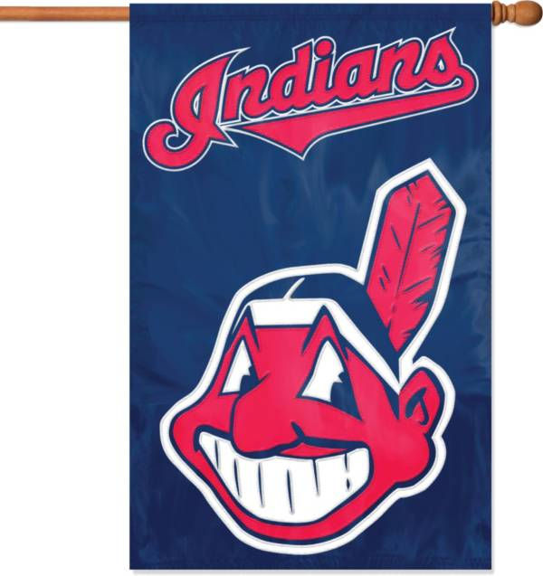 Party Animal Cleveland Indians Applique Banner Flag product image