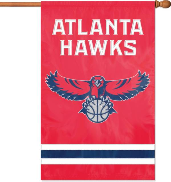Party Animal Atlanta Hawks Applique Banner Flag product image
