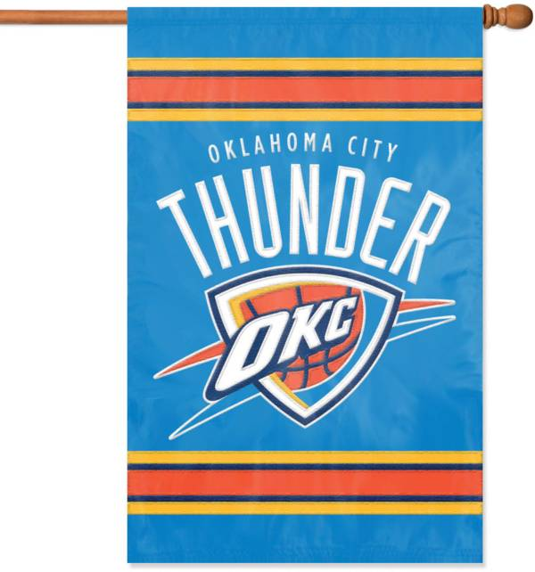 Party Animal Oklahoma City Thunder Applique Banner Flag product image