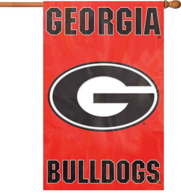Party Animal Georgia Bulldogs Applique Banner Flag product image