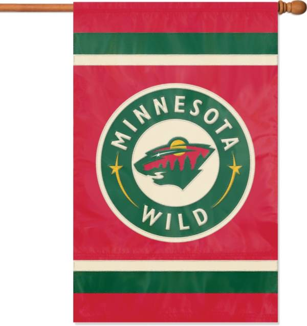 Party Animal Minnesota Wild Applique Banner Flag product image