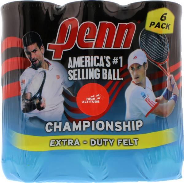Penn Championship High Altitude Tennis Balls - 6 Can Pack product image