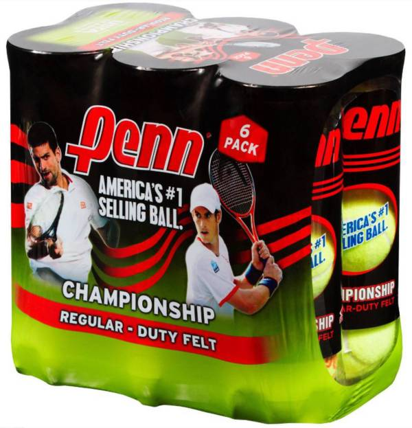 Penn Championship Regular Duty Tennis Balls - 6 Can Pack product image