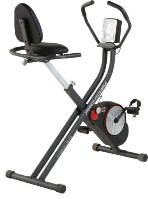 Proform X Bike Duo Folding Upright Recumbent Exercise Bike Dick S
