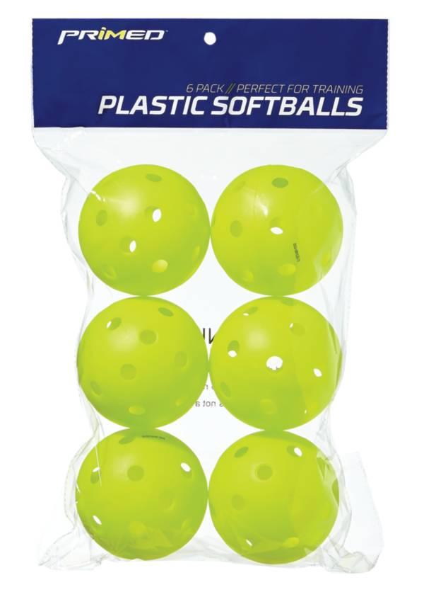 "PRIMED 12"" Plastic Yellow Training Softballs - 6 Pack product image"