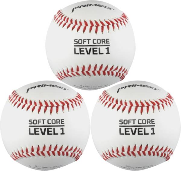 PRIMED Soft Core Level 1 Baseballs - 3 Pack product image