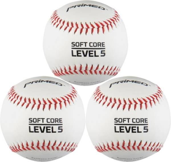 PRIMED Soft Core Level 5 Baseballs - 3 Pack product image