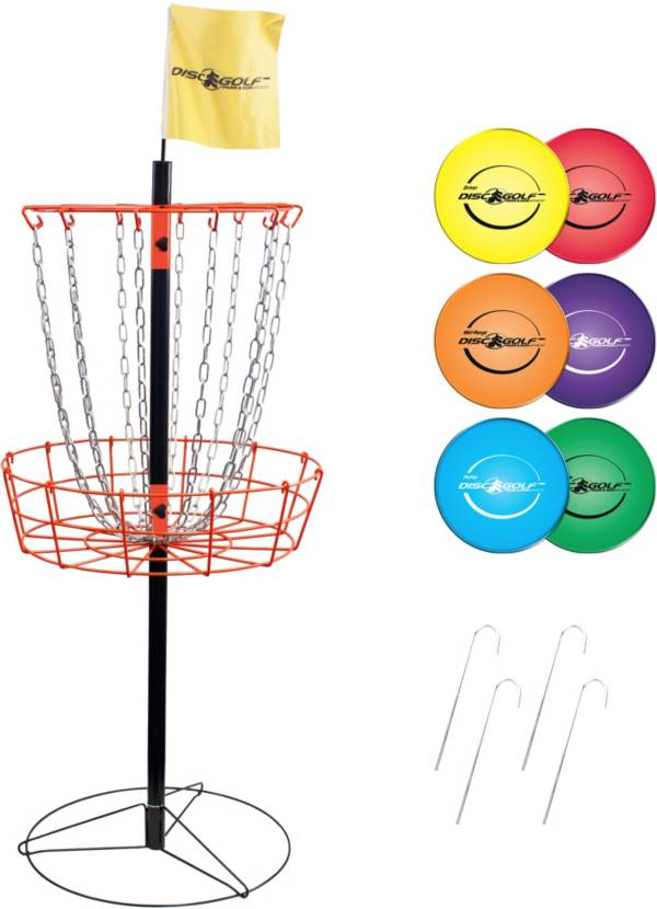 Park & Sun Sports Portable Disc Golf Basket and Disc Set product image