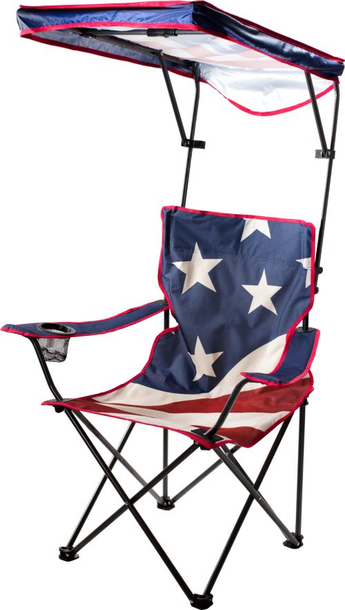 Quik Shade Us Flag Adjule Canopy Folding Chair