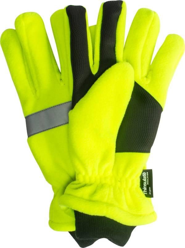 QuietWear Men's High Vis Waterproof Fleece Gloves product image