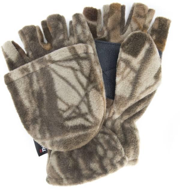 QuietWear Men's Waterproof Fleece Flip Mittens product image