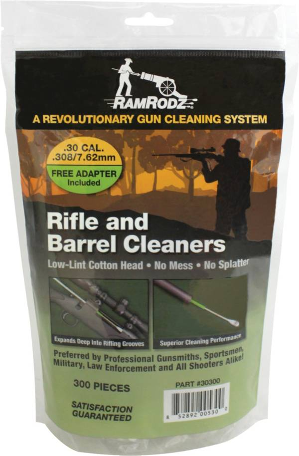 RamRodz .30/.308/7.62mm Rifle and Barrel Cleaners – 300 Swabs product image