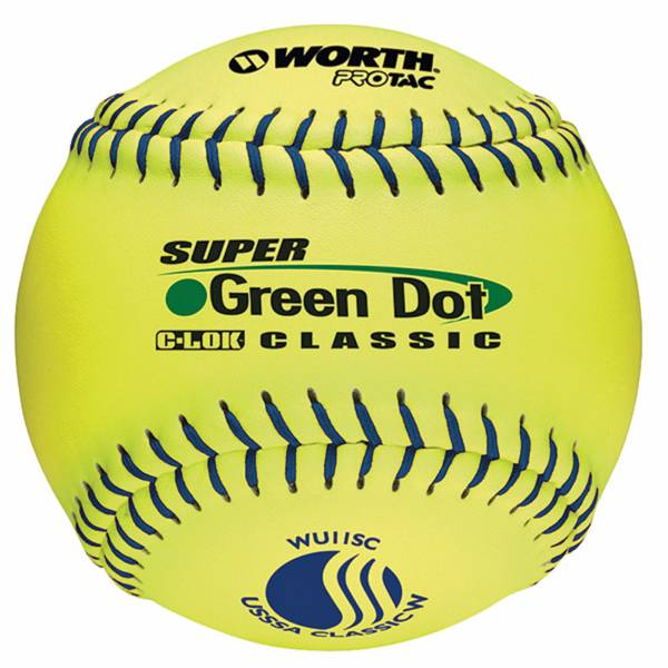 "Worth 11"" USSSA Super Green Dot Slow Pitch Softball product image"
