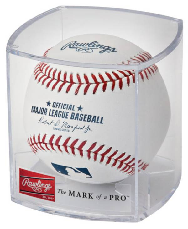 Rawlings MLB Official Game Baseball w/ Display Case product image