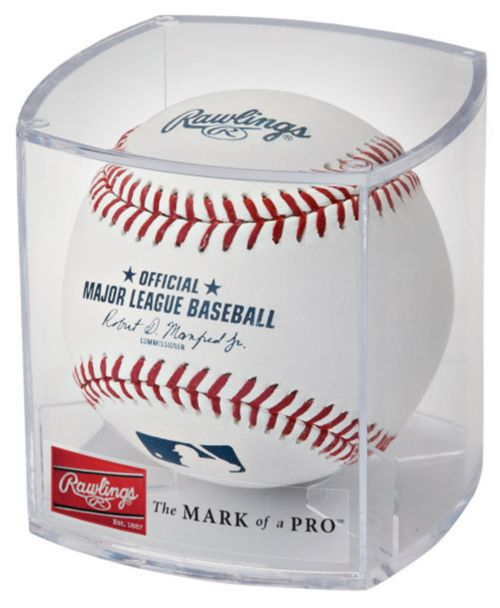 ae396069a Rawlings MLB Official Game Baseball w  Display Case. noImageFound. Previous