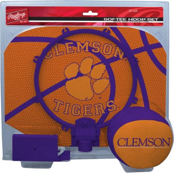 Rawlings Clemson Tigers Slam Dunk Basketball Softee Hoop Set product image
