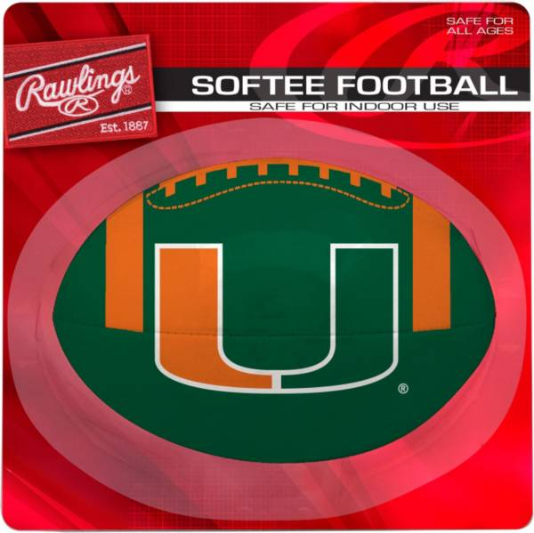 Rawlings Miami Hurricanes Quick Toss Softee Football product image