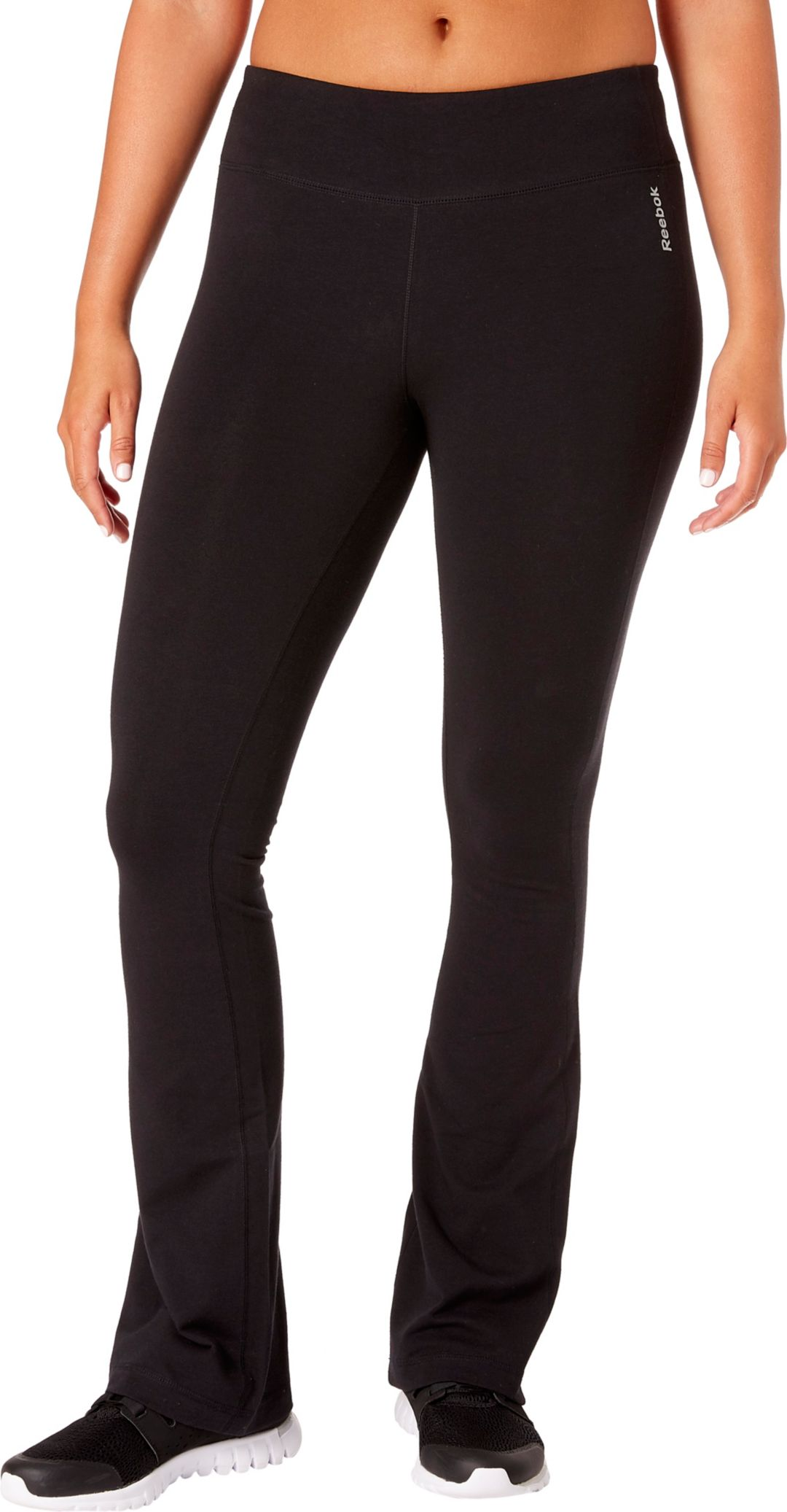 1610a01a98f14 Reebok Women's Stretch Cotton Flare Pants | DICK'S Sporting Goods