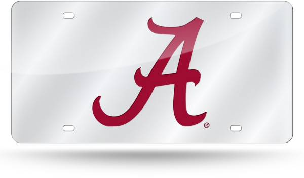 Rico Alabama Script Silver Background Laser Tag License Plate product image