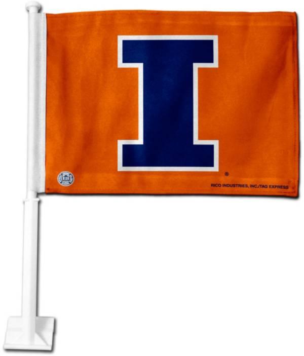 Rico Illinois Fighting Illini Car Flag product image