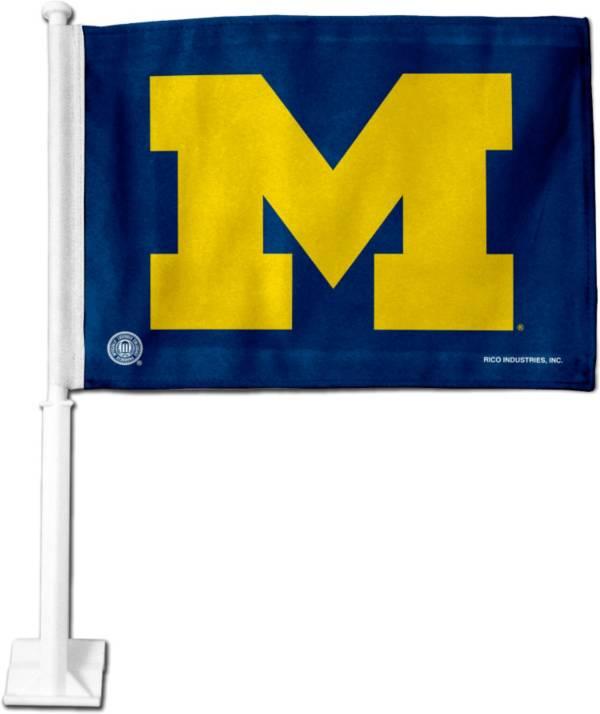 Rico Michigan Wolverines Navy Car Flag product image