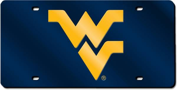 Rico West Virginia Mountaineers Blue Laser Tag License Plate product image