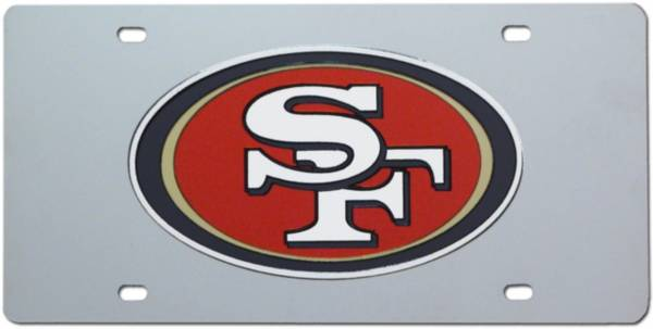 Rico San Francisco 49ers Silver Laser Tag License Plate product image