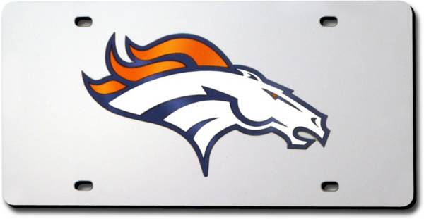 Rico Denver Broncos Silver Laser Tag License Plate product image