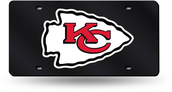 Rico Kansas City Chiefs Black Base Laser Tag License Plate product image
