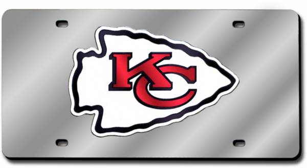 Rico Kansas City Chiefs Silver Laser Tag License Plate product image