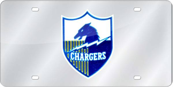 Rico San Diego Chargers Silver Retro Laser Tag License Plate product image