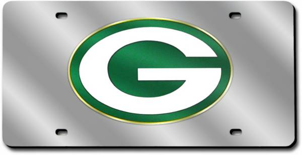 Rico Green Bay Packers Silver Laser Tag License Plate product image