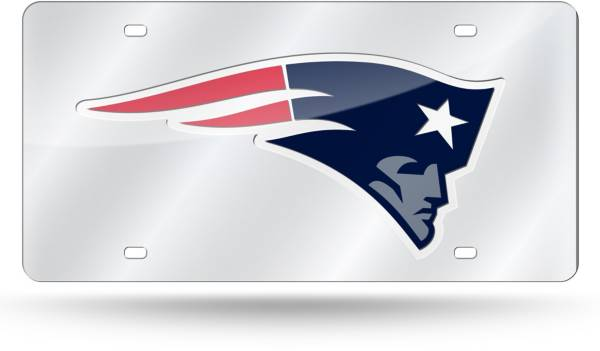 Rico New England Patriots Silver Laser Tag License Plate product image