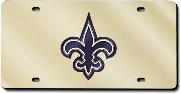 Rico New Orleans Saints Gold Laser Tag License Plate product image