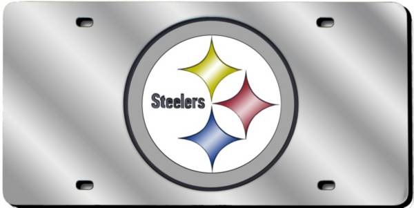 Rico Pittsburgh Steelers Silver Laser Tag License Plate product image