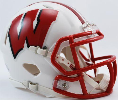 a30eb00b03494 Riddell Wisconsin Badgers Mini Speed Football Helmet