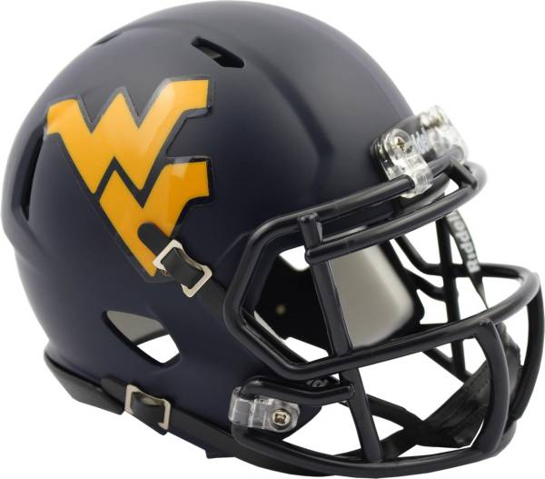 Riddell West Virginia Mountaineers Satin Speed Mini Helmet product image