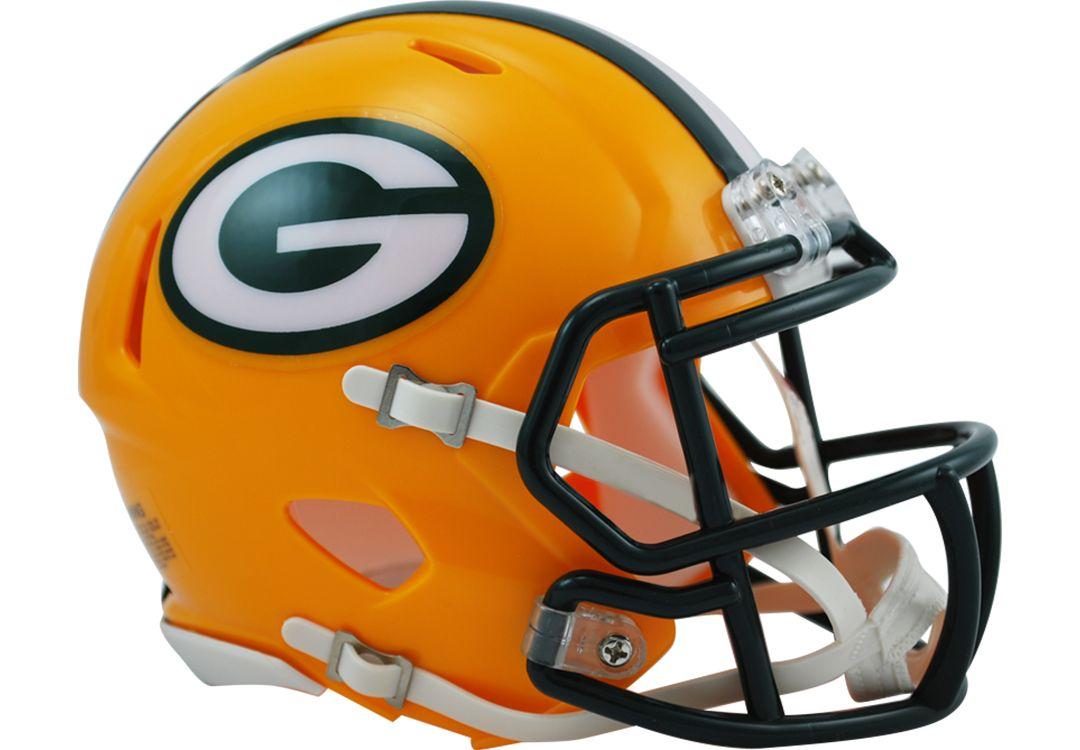 343e870d Riddell Green Bay Packers Revolution Speed Mini Helmet