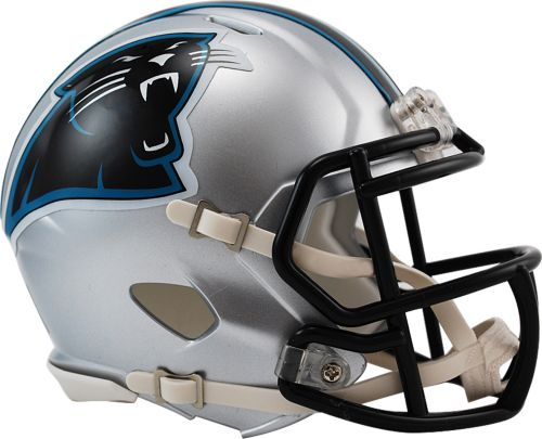 748f9a2efbf6d Riddell Carolina Panthers Revolution Speed Mini Helmet