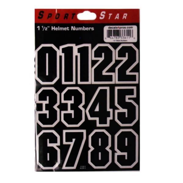 Sportstar Black Number Helmet Stickers product image