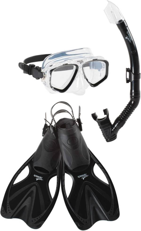 Speedo Adult Adventure Mask, Snorkel & Fin Snorkeling Set product image