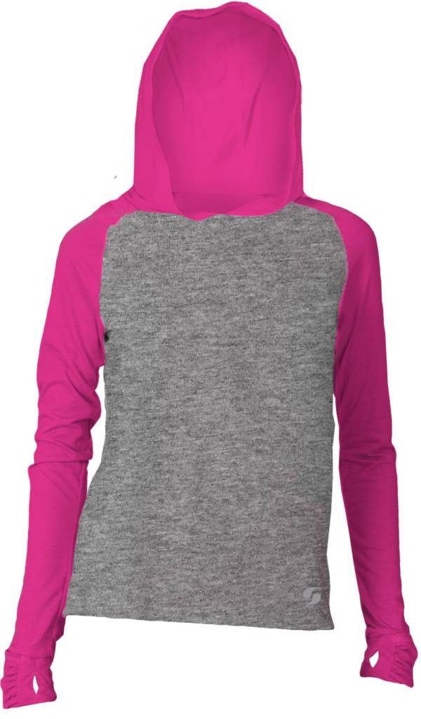 Soffe Girls' No Sweat Colorblock Hoodie product image