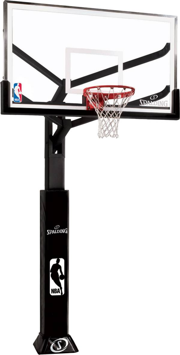 """Spalding 60"""" Glass Arena View In-Ground Basketball Hoop product image"""